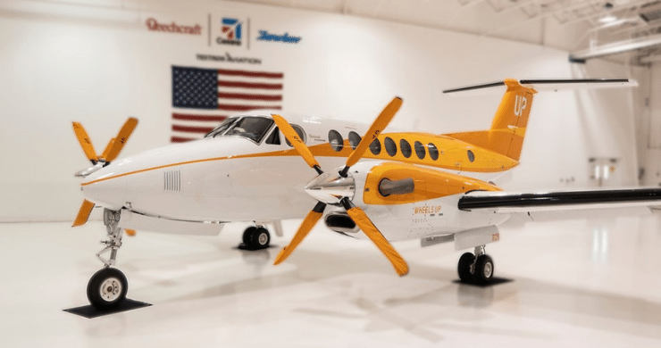 Wheels Up Launches Orange Plane to Promote Hunger Action Month