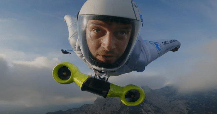 BMW Made the World's First Electrified Wingsuit. 186 MPH on First Flight.